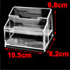 Transparent 2 Compartments Business Name Card Organizer Stand Hol...