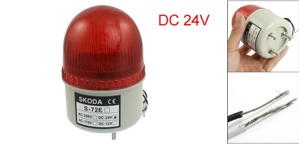 DC 24V Industrial Signal Tower Red   Warning Light
