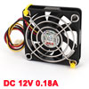60mm x 60mm x 15mm 3 Pins Cooling Fan w Metal Finger Guard