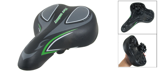 Repair Part Black Green Bike Seat Foam Padding Saddle
