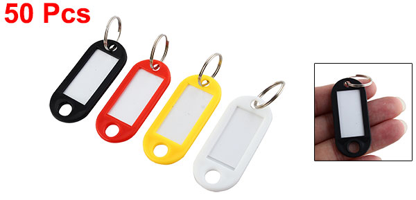 Company Factory Key ID Label Tags Split Ring Keyring Keychain 50 Pcs