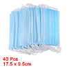 Light Blue Non Woven Fabric Oral Disposable Face Mask 40 Pcs