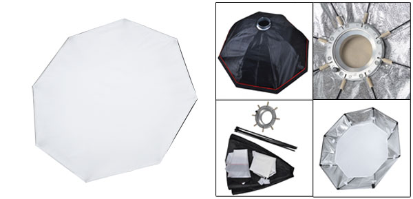 95cm Dia Mount Ring Speedlight Studio Umbrella Round Flash Softbox Diffuser Reflector