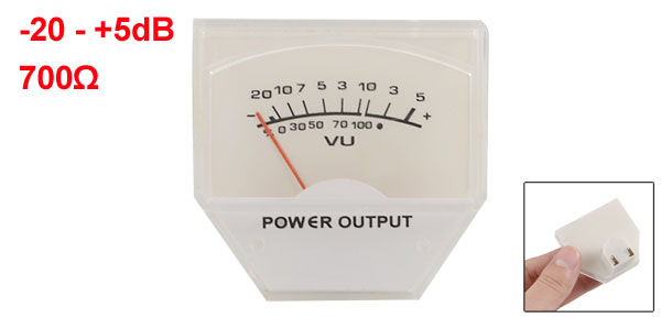48mm x 45mm Analog Amplifier VU Header Panel Meter 500uA 700 Ohm No Lamp