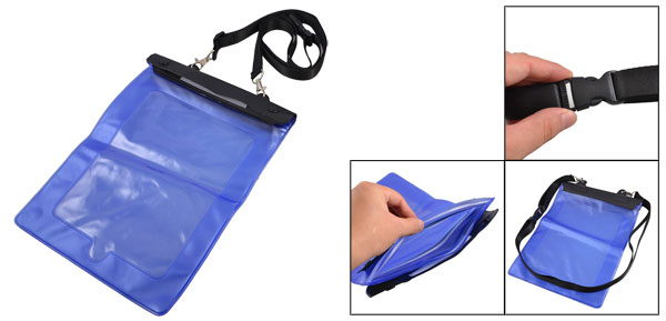 Beach Fishing Blue Plastic Water Resistant Bag Case Protector for iPad