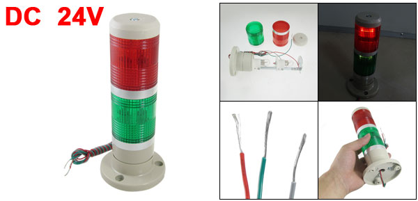 24V DC Industrial Red Green Signal Tower Warning Lamp Stack Light
