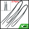 "3 Pairs Gray 44"" Long String Sporty Shoes Replacement Shoelaces"