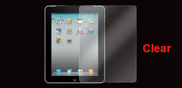 Clear Plastic LCD Screen Protector Film for Apple iPad