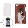 Burgundy White Girl Printed IMD Shell Back Case for iPod Touch 4
