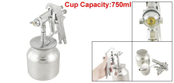 F-75 5mm Nozzle 0.25-0.4MPa Gravity Feed Mini Spray Gun w Cup