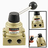 VH200-02 1/4 PT 3 Position 4 Way Rotary Lever Pneumatic Hand Valv...