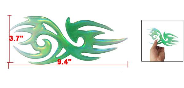 Car Adhesive Back Irregular Style Reflective Stickers Green