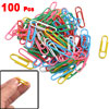 Company Office Metal Stationery Paper Bookmark Clip Case Multicolor 100 Pcs