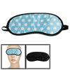 Elastic Headstrap White Dots Prints Blue Eyeshade Blinder Eyepatc...