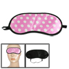 Sleeping Eye Mask White Dot Pattern Polyester Eyeshade Eyepatch P...