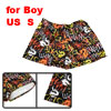 Children Boys Dragon Flame Letter Pattern Elastic Waist Black Swim Trunks US S