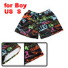 Children Boys Elastic Waist Letter Surfing People Prints Multicol...