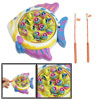 Children Assorted Colors Plastic Fishes Rod Wind up Fishing Game Toy Set