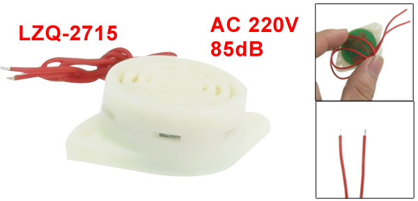 LZQ-2715 AC 220V 2 Wire Industrial Continuous Sound Electronic Buzzer 85dB