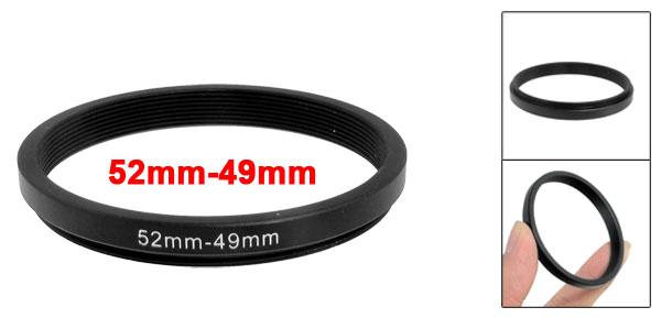 52mm-49mm 52mm to 49mm Black  Ring Adapter for Camera