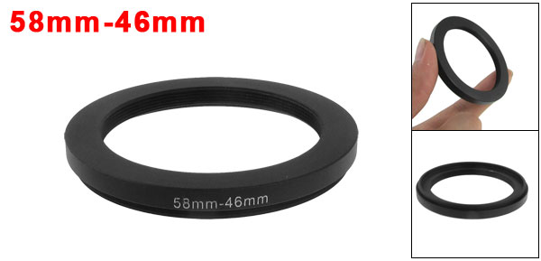 58mm-46mm 58mm to 46mm Black  Ring Adapter for Camera
