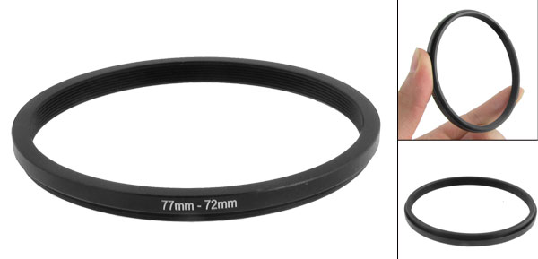 77mm-72mm 77mm to 72mm Black  Ring Adapter for Camera