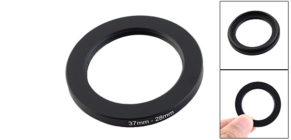 37mm-28mm 37mm to 28mm Black  Ring Adapter for Camera