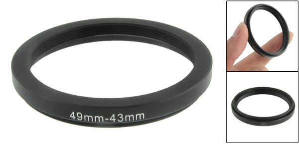 49mm-43mm 49mm to 43mm Black  Ring Adapter for Camera