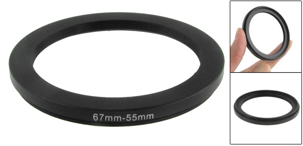 67mm-55mm 67mm to 55mm Black  Ring Adapter for Camera