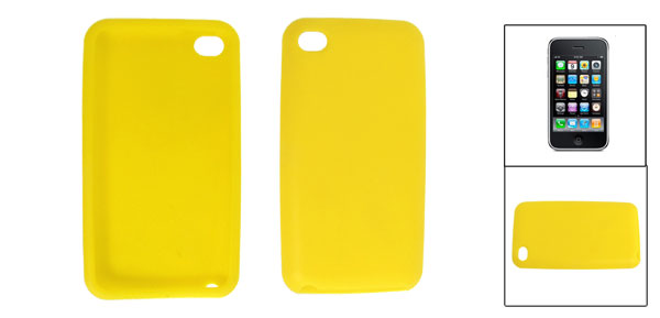 Yellow Soft Silicone Back Case Protector for Apple iPhone 3G/S