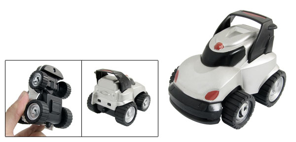 Gray Black Plastic Inertia Car Toy Model Gift for