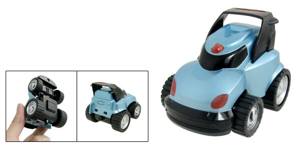 Blue Black Plastic Inertia Car Toy Model Gift for