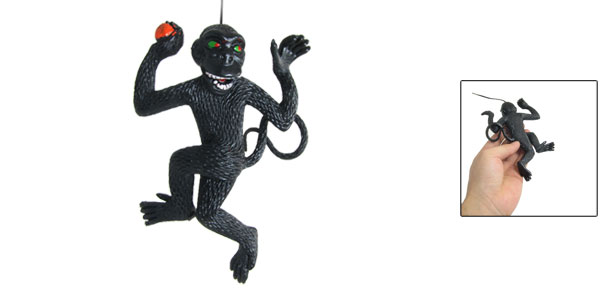 Soft Black Silicone Lifelike Monkey Toy Decor Pendant