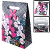 Hook Loop Fastener Flower Printed Folding Paper Gift Bag Box Hold...