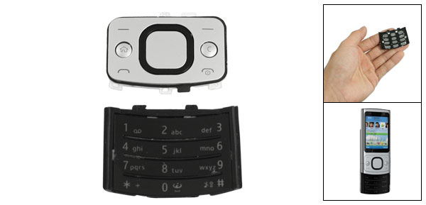 Plasitc Replacement Keyboard Letter Button for Nokia 6700S