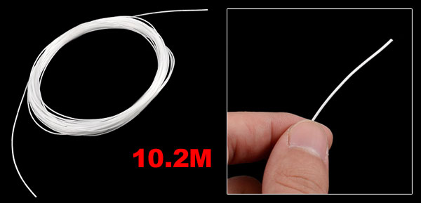 10.2M 33.5 Ft Long 0.8mm Gauge Tennis Racket String White