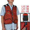 Men Red Black Man Multi Pockets Zipper M...