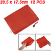 School Stationery Red Nylon Files Document Holder Bags 12 Pcs for...