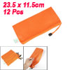 12 Pcs Dots Pattern Nylon File Document Holder Bags Orange for A6...