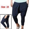 Mens Baggy Dance Casual Pants Trousers Harem Pockets Blue W28