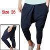 Mens Baggy Dance Casual Pants Trousers Harem Pockets Blue W28