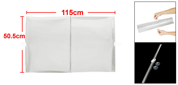 Truck Car Windshield Sun Shade Silver Tone 115cm x 50.5cm