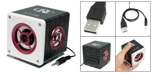 MP3 MP4 Player Laptop 3.5mm Plug USB Port Mobile Speakers