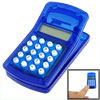 Clear Blue Clip Eight Digit Calculator w Magnetic Strip