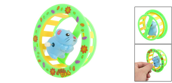 Children Blue Clockwork Spring Tumbling Somersault Cartoon Mice Funny Toy