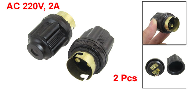 AC 220V 2A B22 Light Bulb Bayonet Socket Adapter Converter 2 Pcs