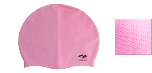Pink Silicone Skin Stretchy Surf Surfing Swimming Cap for Adult Gzfzb