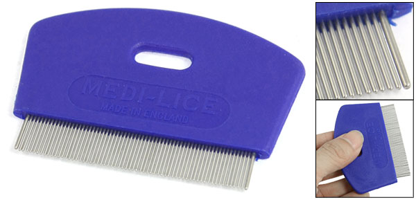 Cat Dog Pet Beauty Tool Grooming Shedding Rake Comb Blue