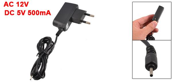 EU Plug AC 12V Input DC 5V 500mA Output Travel Charger Adapter for Nokia 6101