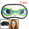 2 Pcs Smile Cartoon Face Travel Nylon Eye Mask Sleeping Eyeshade
